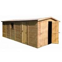 Garaje de Madera para el Jardín de 18 m2